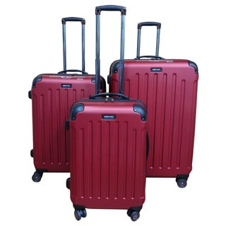 Kenneth Cole Red Renegade 3-piece Hardside Spinner Luggage Set