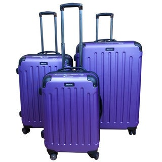Kenneth Cole Purple Renegade 3-piece Hardside Spinner Luggage Set