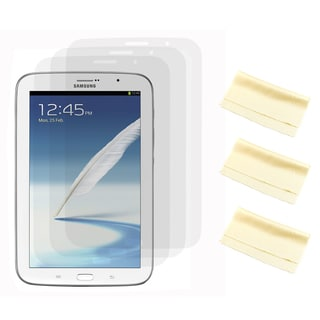 Gearonic 3 Piece Clear Screen Protector for Samsung Note 8.0 Tablet