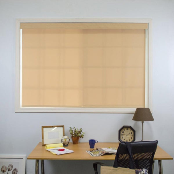 Chicology Mountain Almond Cord Free Roller Shade with Valance