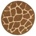 LNR Home Fashion Natural Tan Animal-print Rug (5' Round)