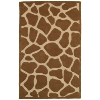 LNR Home Fashion Brown/ Tan Animal Print Rug (7'9 x 9'9)