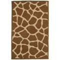 Hand Tufted Natural Tan Animal Print Rug (7'9 x 9'9)