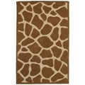 Hand Tufted Natural Tan Animal Print Rug (5' x 7'9)