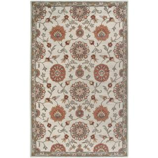 Hand-Tufted Handicraft Imports 'Aisling' Beige Wool Blend Area Rug (5' x 8')