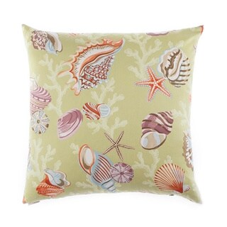 Coral Beach Decorative Down Fill Throw Pillow
