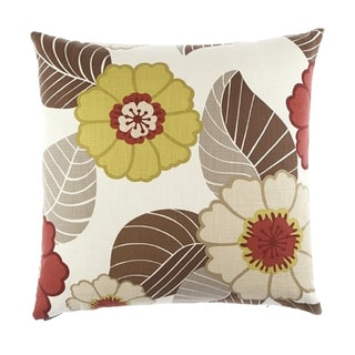 Flower Power Down Filled Decorative Throw Pillow
