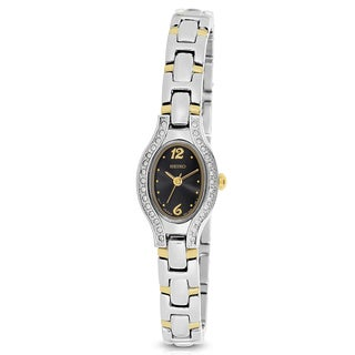 Seiko Women's Two-Tone Stainless Steel Charcoal Dial Watch