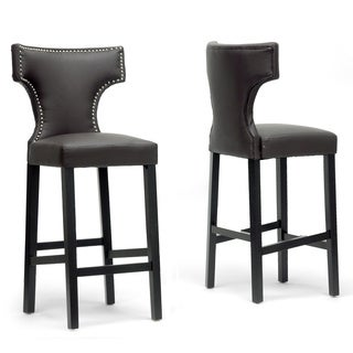 Hafley Beige Modern Bar Stools (Set of 2)