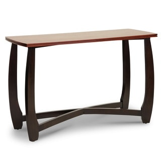 Baxton Studio Straitwoode Cherry and Dark Brown Modern Console Table
