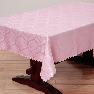 Two-tone Pink Shell Damask 57x138-inch Rectangular Tablecloth