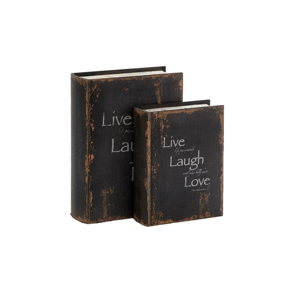 'Live, Laugh, and Love' French Style Wood Book Box Set