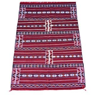 Hand-Woven Moroccan Kilim Rug (4'5 x 6'9)