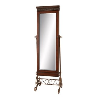 Antique Brown Traditional Floor-length Standing Mirror