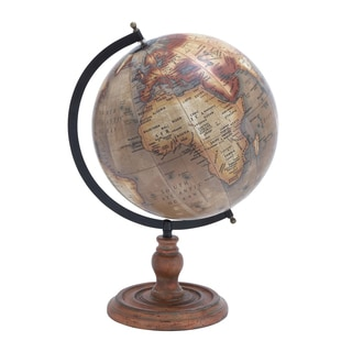 Rustic Metal/ Wood Base Globe