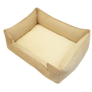 Large Cream and Tan Chill Pet Bed