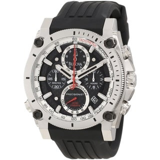Bulova Men's Precisionist Black Polyurethane Quartz Watch