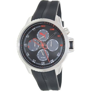 Puma Men's Black Rubber Analog Quartz Watch