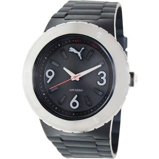 Puma Men's Black Silicone Analog Quartz Watch