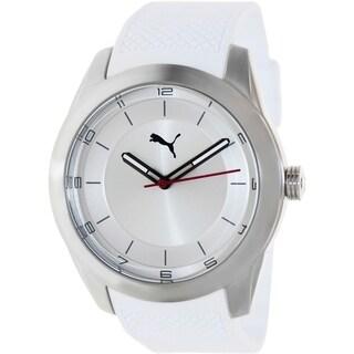 Puma Men's White Plastic Analog Quartz Watch