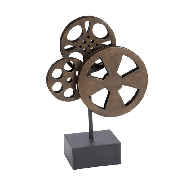 Metal Movie Reel Table Stand