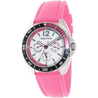 Nautica Women's Sport Ring Pink Silicone Quartz Watch