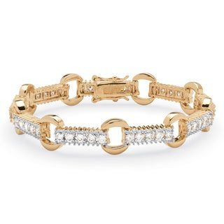 Ultimate CZ 14k Gold Overlaid 2 3/4ct TCW Cubic Zirconia Bracelet