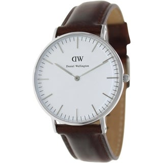 Daniel Wellington Men's St. Andrews Brown Leather Quartz Watch