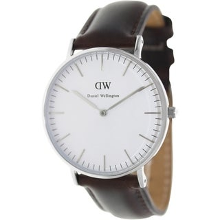 Daniel Wellington Men's Bristol Brown Leather Quartz Watch