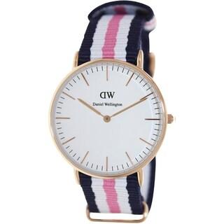 Daniel Wellington Women's Southampton Two-Tone Nylon Quartz Watch