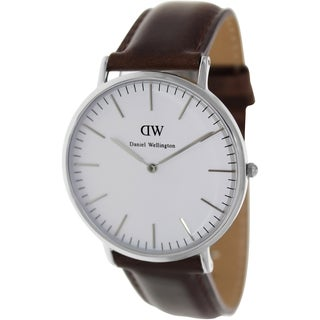 Daniel Wellington Men's Cardiff Brown Leather Quartz Watch
