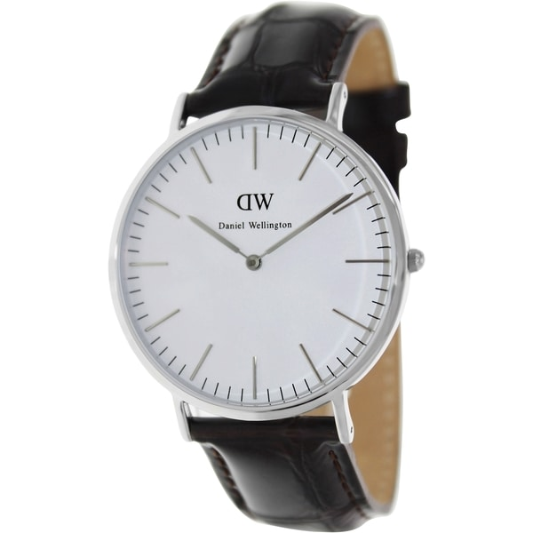 Daniel Wellington Men's York Brown Leather Quartz Watch
