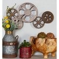 Antique Bronze Movie Reel Metal Wall Art