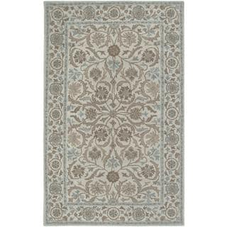 Hand-tufted Handicraft Imports Aisling Beige New Zealand Wool Blend Area Rug (5' x 8')