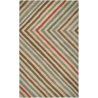 Hand-tufted Designer Trends Multi/ Beige Wool Rug (8' x 10')