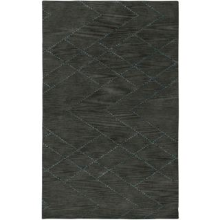 Hand-Tufted Handicraft Imports Designer Trends Gray Wool Area Rug (9' x 12')