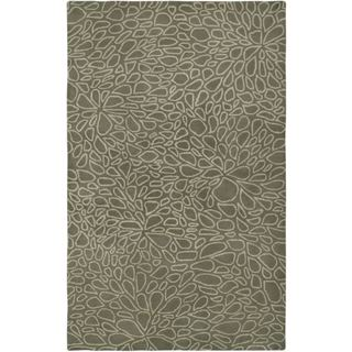 Hand-Tufted Handicraft Imports Designer Trends Light Gray Wool Area Rug (9' x 12')
