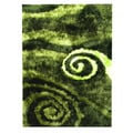 Hand-tufted Abstract Swirl Green Area Rug (5' x 7')