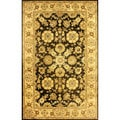 nuLOOM Handmade Traditional Persian Black Wool Rug (5' x 8')