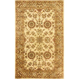 nuLOOM Handmade Traditional Persian Ivory Wool Rug (5' x 8')