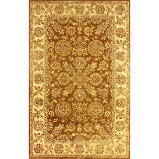 nuLOOM Handmade Traditional Persian Brown Wool Rug (5' x 8')