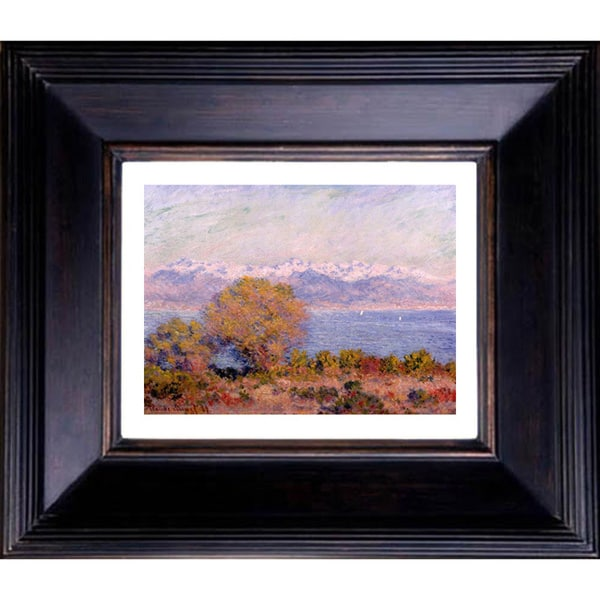 Claude Monet 'The Alps seen from Cap d'Antibes' Giclee Framed Art