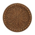 Smeared Brown Hued Metal Wall Decor