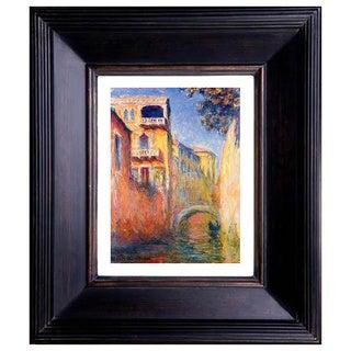 Claude Monet 'Rio de la salute' Giclee Framed Art