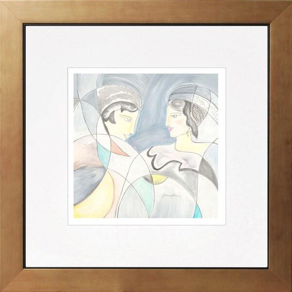 Grace Absi 'The couple' Giclee Framed Art