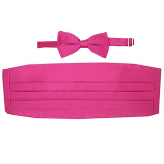 Ferrecci Fuchsia Cummerbund and Bowtie Set