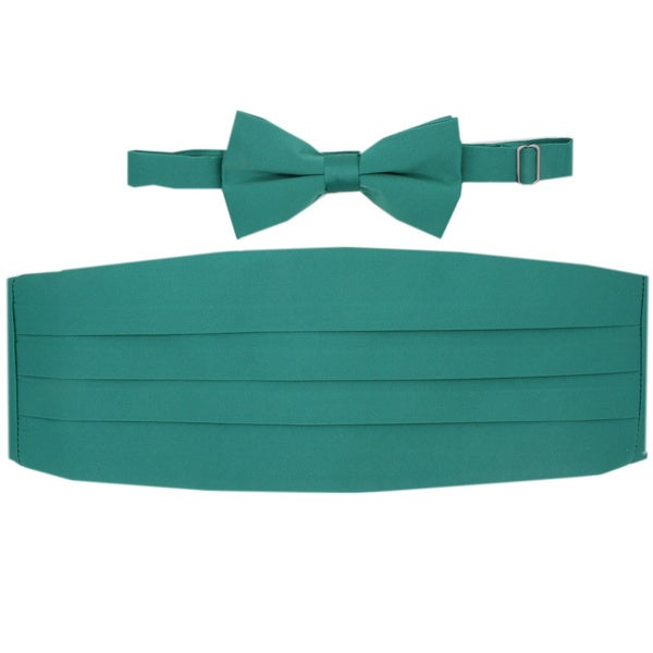 Ferrecci Pastel Green Cummerbund and Bowtie Set