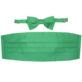 Ferrecci Green Cummerbund and Bowtie Set