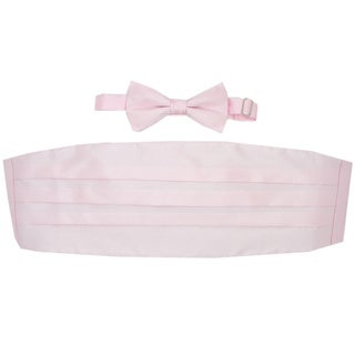 Ferrecci Pink Cummerbund and Bowtie Set