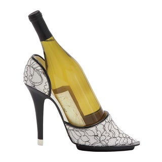 Stiletto Design with Beautiful Animal Print Polystone Shoe Wine Holder